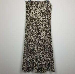 Lularoe animal print maxi skirt size large